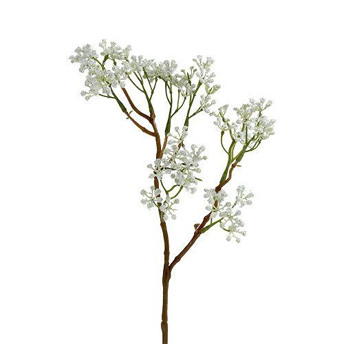 Deko-Zweig Grün-Weiß L43cm 4St
