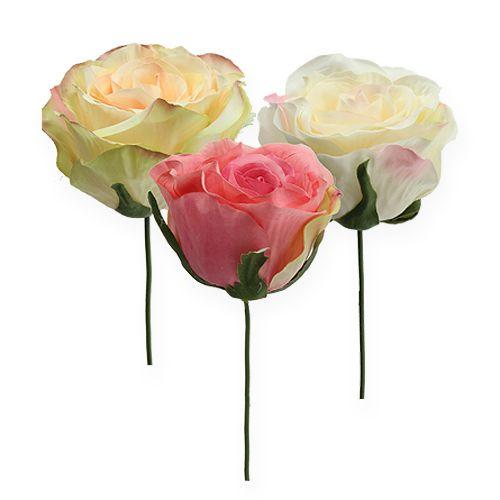 Künstliche Rosenköpfe Ø9cm 6St