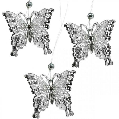 Dekoanhänger Schmetterling, Hochzeitsdeko, Metall-Schmetterling, Frühling 6St