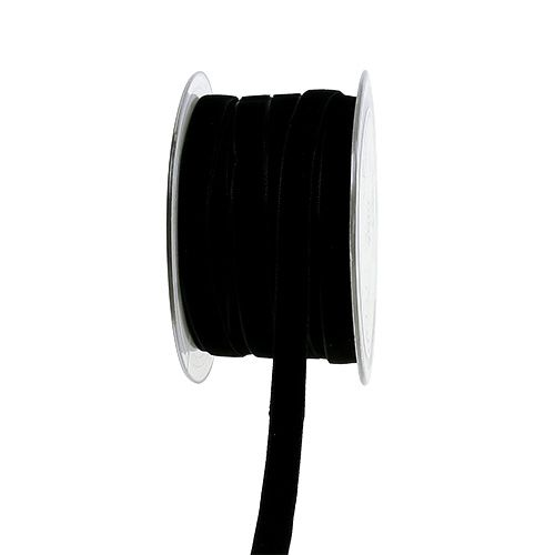 Dekobänder Velvet Schwarz 10mm 20m