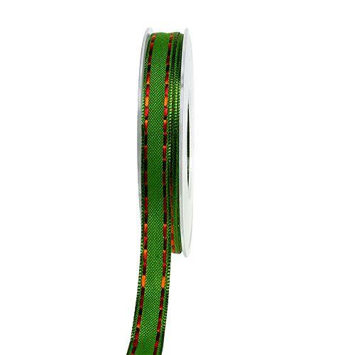 Dekoband Grün mit Drahtkante 15mm 15m