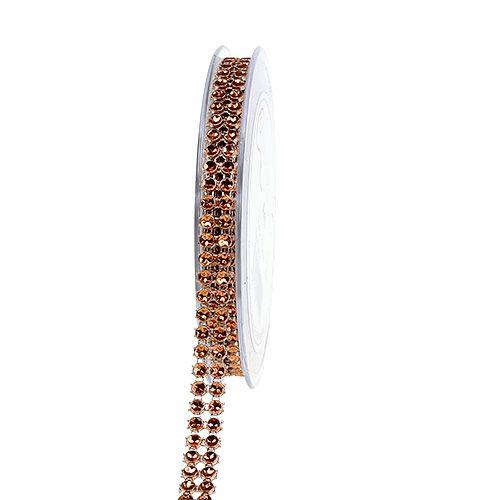 Dekoband Kupfer, glänzend 10mm 4m