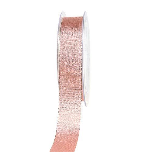 Dekoband Rosa-Gold 25mm 20m