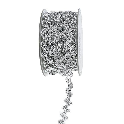 Dekoband Silber glänzend 10mm 9m