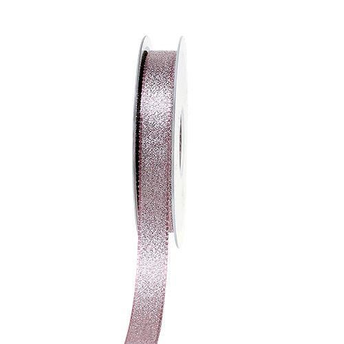 Dekoband mit Glitzer Rosa 15mm 25m