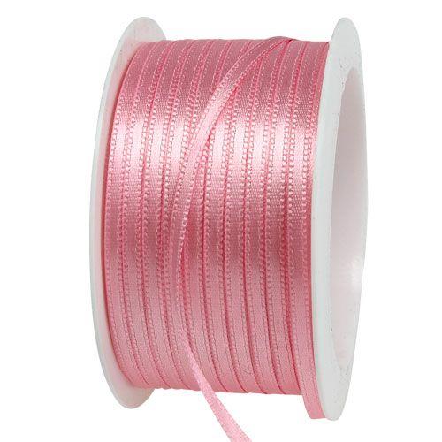 Geschenk- und Dekorationsband 3mm x 50m Pastellrosa