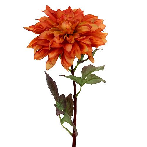 Dekoblume Dahlie Orange 55cm