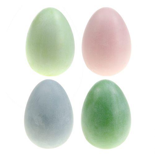 Ostereier Sortiment Pastellfarben H10cm 8St