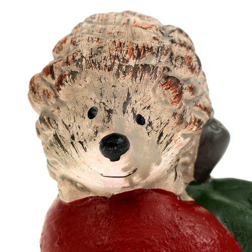 Dekofigur Igel am Apfel 7,5cm keramik