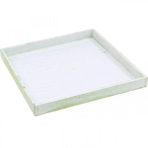 Pflanz-Tablett, Holz-Schale, Untersetzer 30×30cm