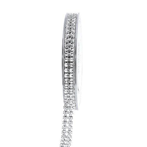Dekorationsband Silber, glänzend 10mm 4m