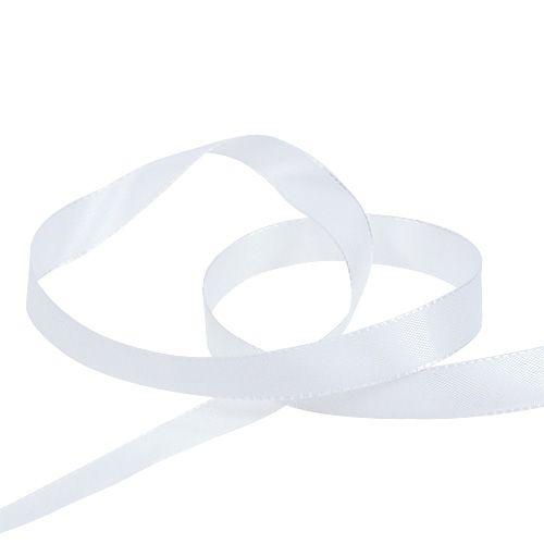 Dekorationsband Weiß 8mm 50m