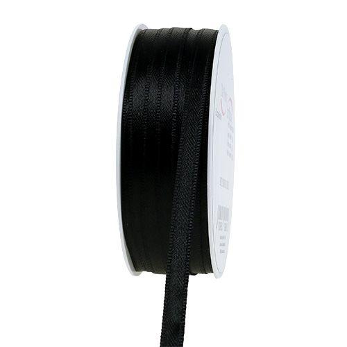 Dekorationsband Schwarz 6mm 50m