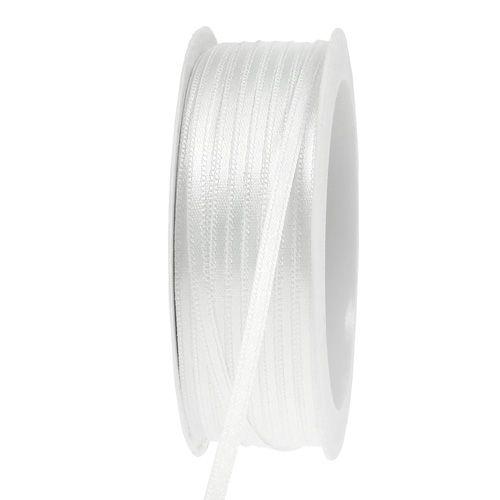 Dekorationsband weiß 3mm 50m