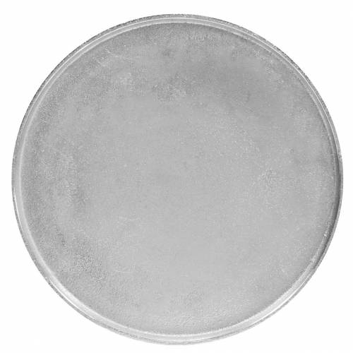Dekoteller Ton Ø31cm Silber