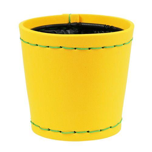 """Deko Topf """"Suki"""" gelb  Ø12,5cm H12,5cm"""