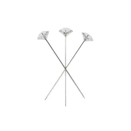 Diamantnadeln Ø6mm trans klar 85St