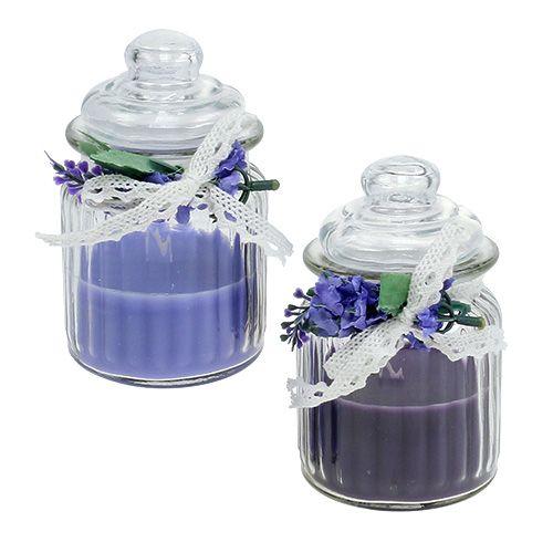 Duftkerze im Glas Lavendel Ø7,5cm H13cm 2St