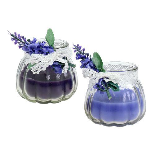 Duftkerzen Lavendel im Glas Ø7cm H7cm 2St