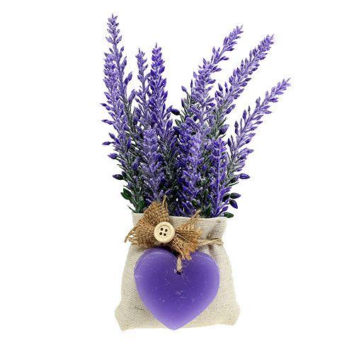 Lavendelsäckchen mit Herz 18cm