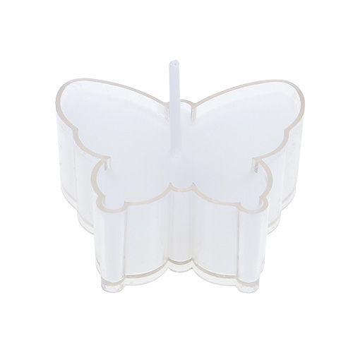 Duftteelicht Schmetterling Ø4,8cm H2cm Weiß 6St