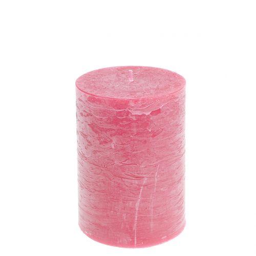 Durchgefärbte Kerzen Rosa 85x120mm 2St