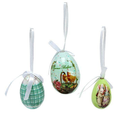 Eier zum Hängen Grün sort. 5-8cm 8St