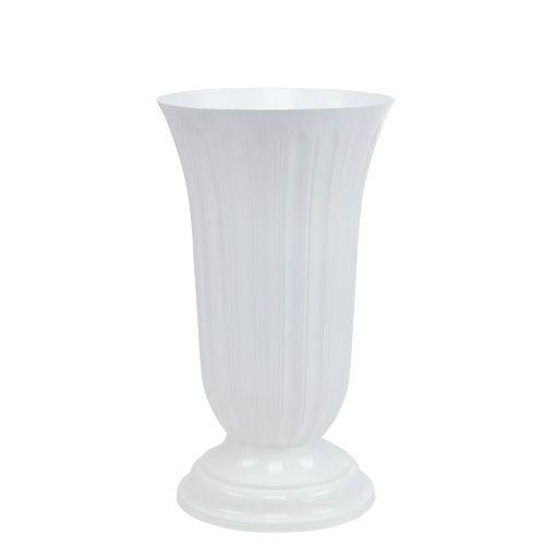 Einstellvase Lilia Weiß 20cm