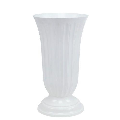Einstellvase Lilia Weiß 23cm