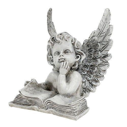 Engel mit Buch 14,5cm 1St
