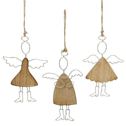 Engel zum Hängen Silber 16cm - 18cm 3St