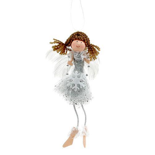 Engel zum Hängen Silber 20cm