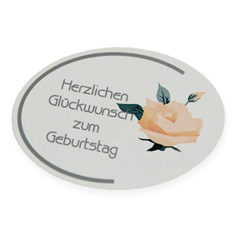 """Etiketten """"Herzl. Glückwunsch zum Geburtstag"""" 250St"""