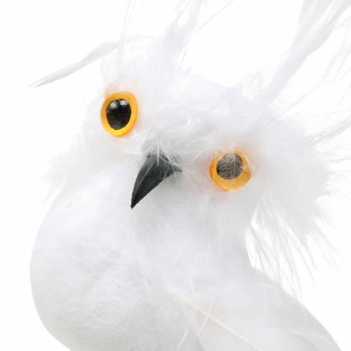 Dekostecker Eule Weiß 5cm 4St