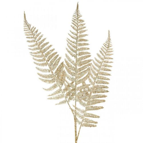 Deko Farn Kunstpflanze Gold, Glitter Weihnachtsdeko 74cm