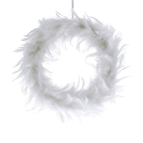 Federkranz Ø15cm Weiß 4St