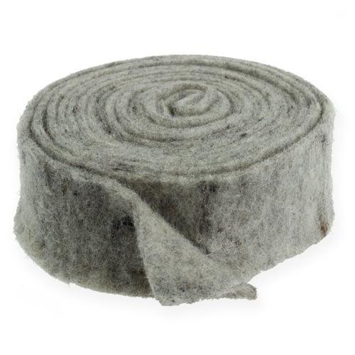 Filzband Grau 7,5cm 5m