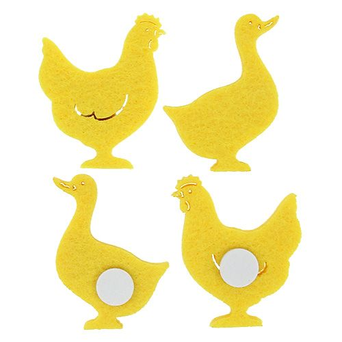 Filz Ente, Huhn selbstklebend Gelb 96St