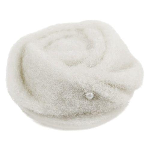Filz-Rose Weiß Ø6cm 9St