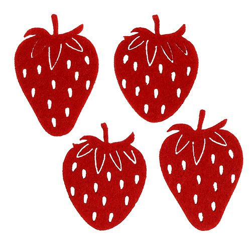 Filz Erdbeeren Rot 32St