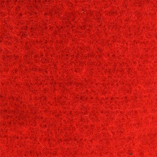 Filzband 15cm x 5m Rot