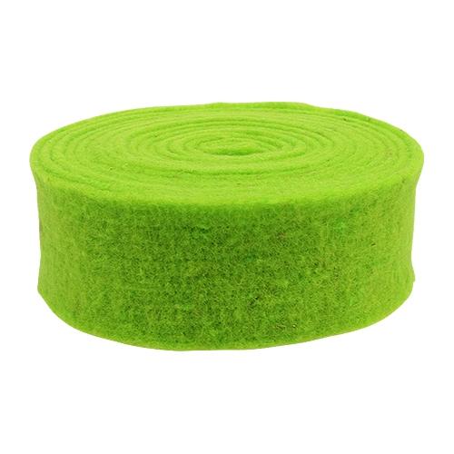 Filzband Grün 7,5cm 5m
