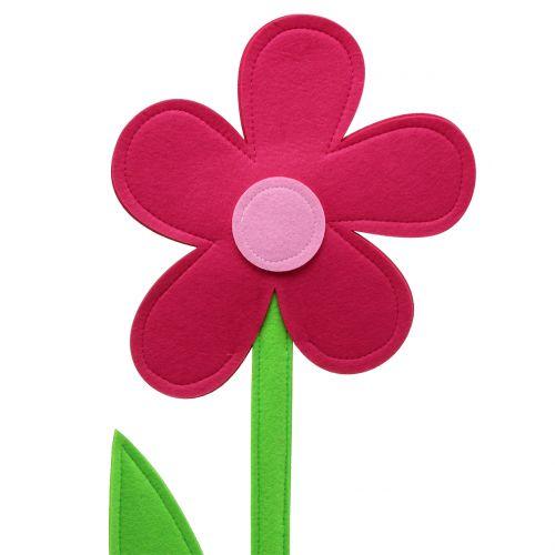 Filzblume Pink 64cm