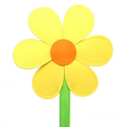 Filzblume Gelb 120cm