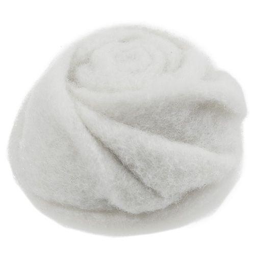 Filz-Rose Weiß Ø8cm H4cm 6St