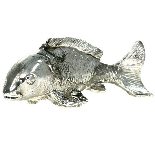 Deko Fisch Antik-Silber 14cm