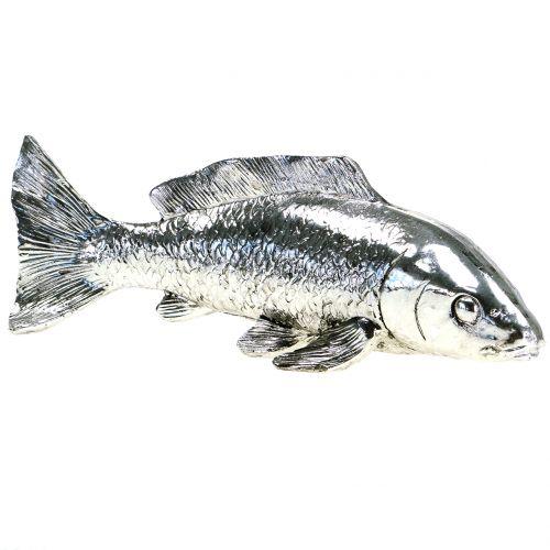 Deko Fisch Silber 22cm