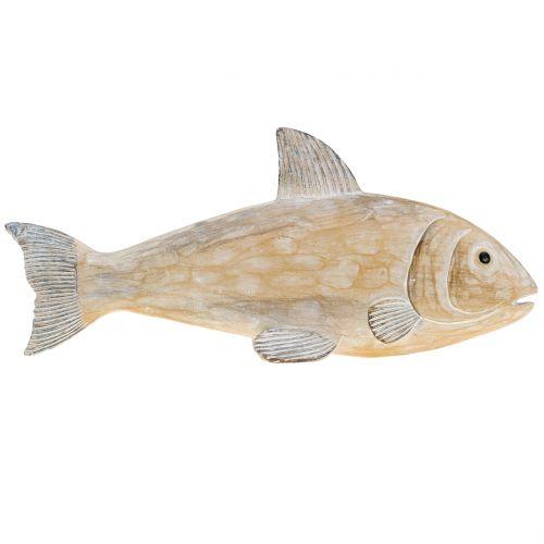 Deko Fisch in Holzoptik Natur L19cm