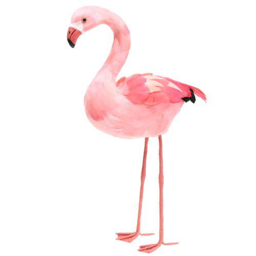 Deko Flamingo mit Federn Rosa H45cm