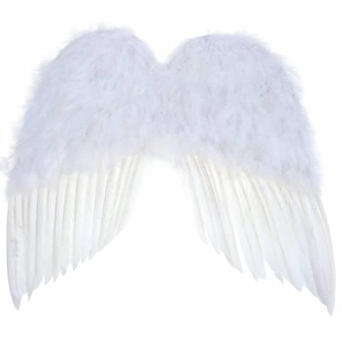 Flügel aus Federn Weiß 55x52cm